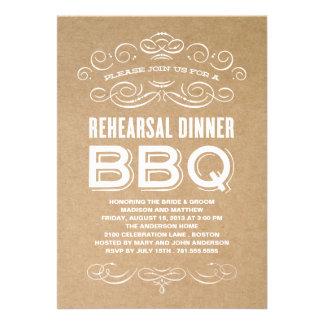 VINTAGE BBQ REHEARSAL DINNER BBQ CUSTOM ANNOUNCEMENTS
