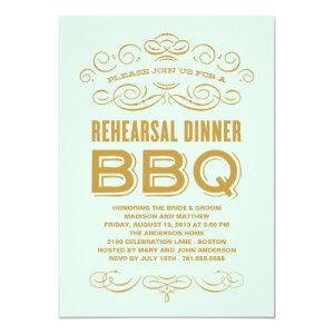 VINTAGE BBQ | REHEARSAL DINNER BBQ INVITE