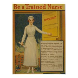 Vintage be a Trained Nurse Poster