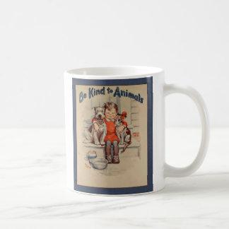 Vintage Be Kind to Animals Mug