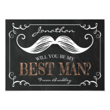 Vintage Will You Be My Best Man Card