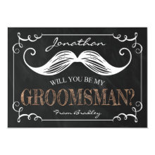 Vintage Be My Groomsmen Wedding Cards