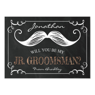 VINTAGE BE MY JR. GROOMSMAN | GROOMSMEN CARD