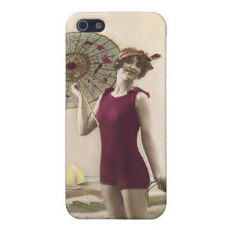 Vintage Beach Babe customizable iPhone 5C case