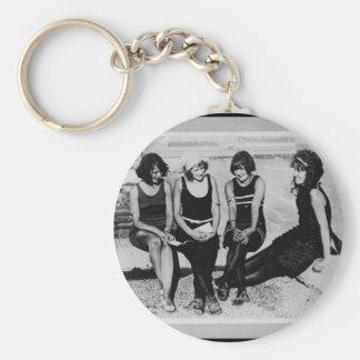 Vintage Beach Beauties Photo Key Chains