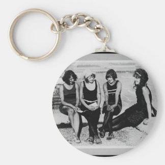 Vintage Beach Beauties Photo Keychain