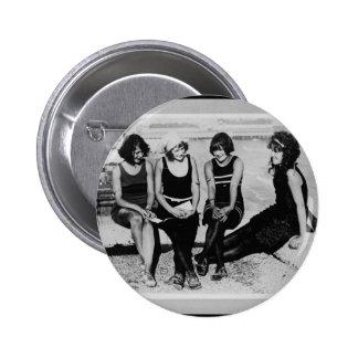 Vintage Beach Beauties Photo Pinback Button