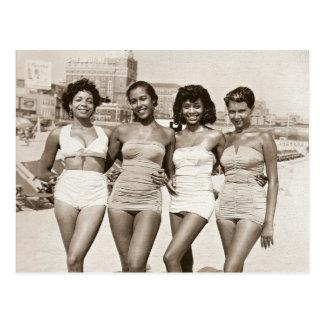 Vintage Beach Beauties Postcard