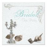 Vintage Beach Bridal Shower Tea Party Invitation