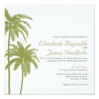 Vintage Beach Destination Wedding Invitations