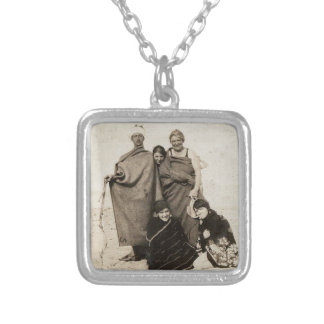 Vintage Beach Fun Photograph Silver Plated Necklace