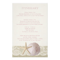 Vintage Beach Itinerary Stationery