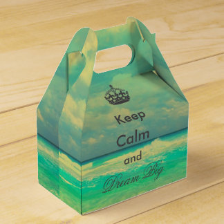 "vintage beach ""Keep Calm and Dream Big"" quote Favor Box"