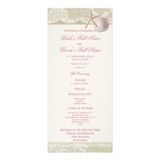 Vintage Beach Lace and Burlap Wedding Program
