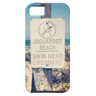Vintage Beach Lifeguard Sign  Apple iPhone 5 Cover