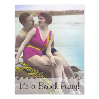Vintage Beach Party Invitation