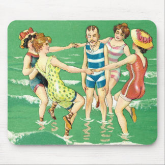 Vintage Beach Party Mouse Pad