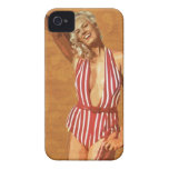 Vintage beach pin up girl iPhone 4 case