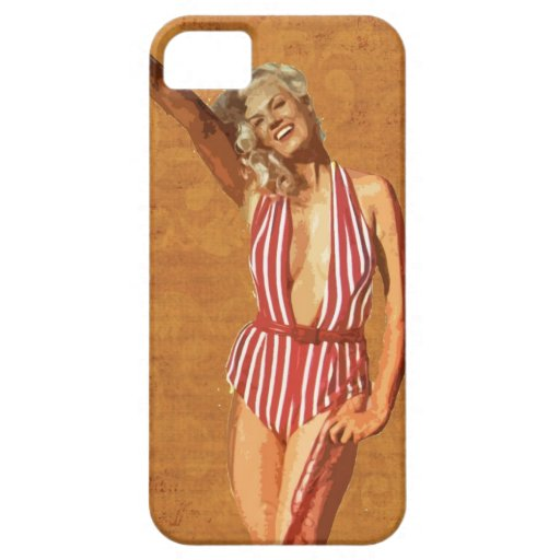 Vintage beach pin up girl iPhone 5 cover