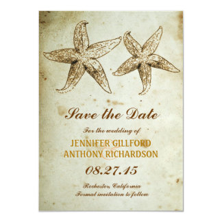 VINTAGE BEACH SAVE THE DATE CARD