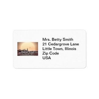 Vintage Beach Scene Label