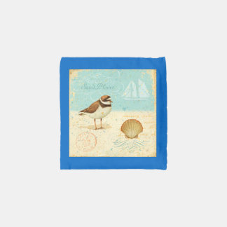 Vintage Beach Scene Reusable Bag