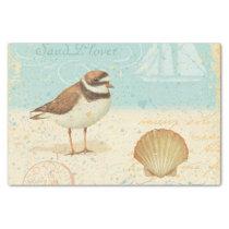 Vintage Beach Scene Tissue Paper