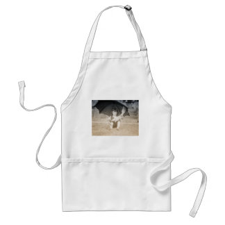 Vintage Beach Scene with Little Girl Adult Apron