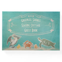 Vintage Beach Sea Life Vacation Rental Welcome Guest Book