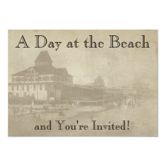 Vintage Beach Theme Park Invitation