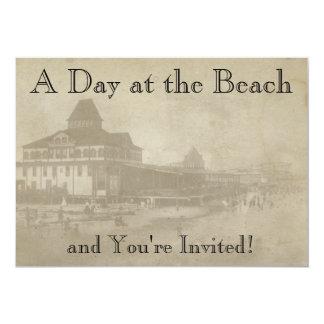 Vintage Beach Theme Park Invitation