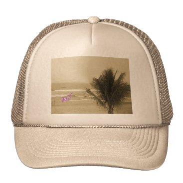 Beach Themed Vintage Beach Trucker Hat