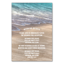 Vintage Beach Waves Wedding Enclosure Cards