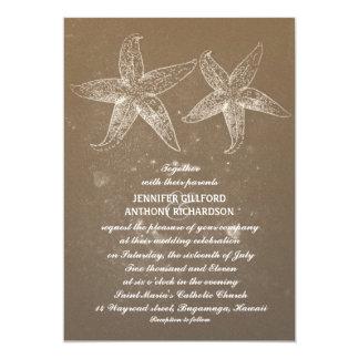 VINTAGE BEACH WEDDING INVITATIONS