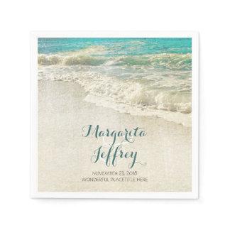 Vintage Beach wedding paper napkins