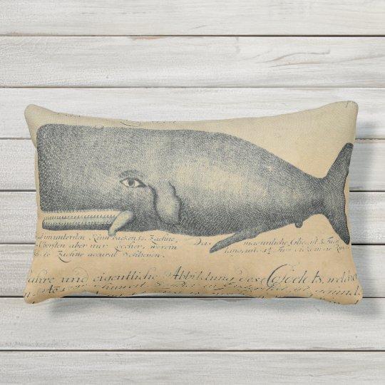 Vintage Beach Whale Outdoor Patio Lumbar Outdoor Pillow - Vintage Beach Whale Outdoor Patio Lumbar Outdoor Pillow Zazzle.com