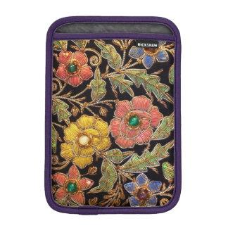 Vintage Beaded Flowers on Velvet iPad Mini Sleeve