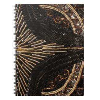 Vintage Beaded Purse design Spiral Notebooks