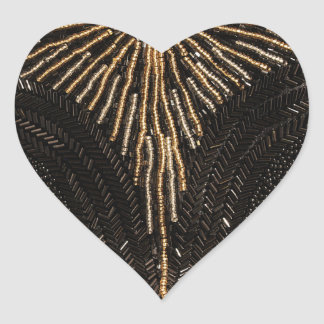 Vintage Beaded Purse design Heart Sticker
