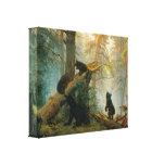 Vintage Bear Cubs by Ivan Shishkin Canvas Print