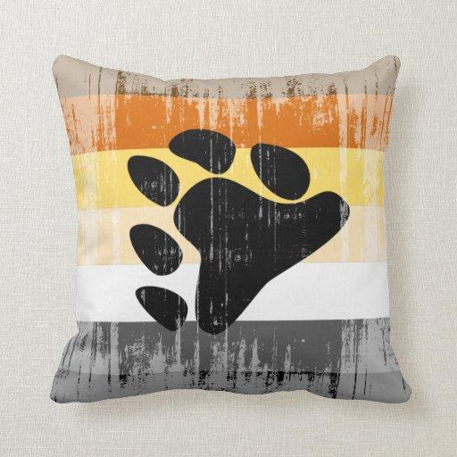 Vintage Bear Pride Throw Pillow