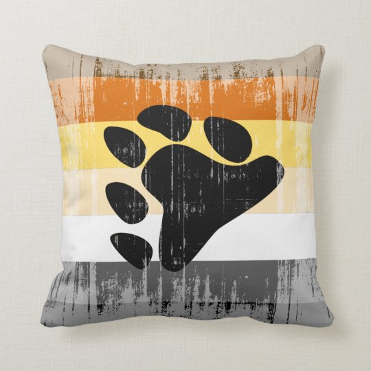 Vintage Bear Pride Throw Pillow