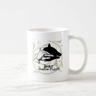 Vintage Bear Puppet Artwork Illustration Coffee Mug