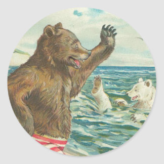 Vintage Bear Stickers