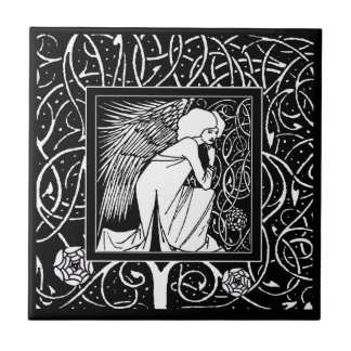Vintage Beardsley Angel Ceramic Tile