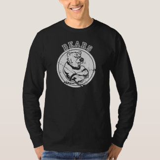 Vintage Bears Mascot for Dark Apparel T-Shirt