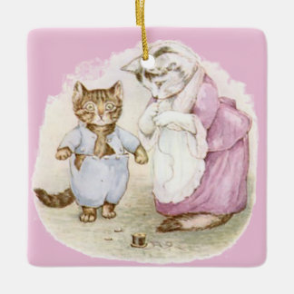 Vintage Beatrix Potter, Tom Kitten, Duck, Custom Ceramic Ornament