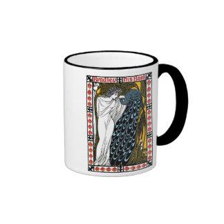 Vintage Beautiful American art nouveau Ringer Mug