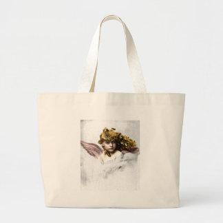 Vintage - Beautiful Angel Child Jumbo Tote Bag