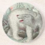 Vintage beautiful bear posavasos diseño